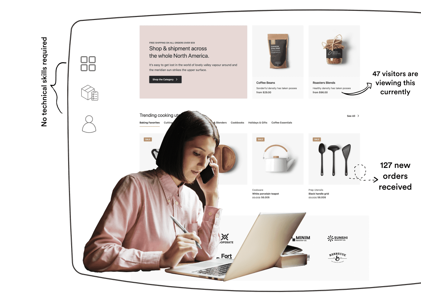 ecommerce store builder | Yovale- powered by VINTCER